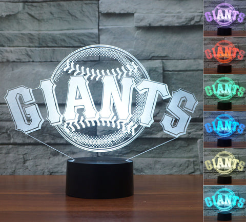 "San Francisco Giants ""Logo"" - 3D LED Lamp/Night Light"
