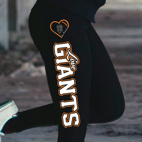 Love San Francisco Giants Cotton Leggings