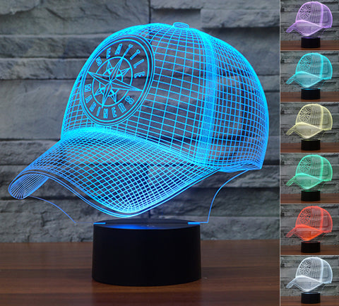 "Seattle Mariners ""Baseball Cap"" - 3D LED Lamp/Night Light"