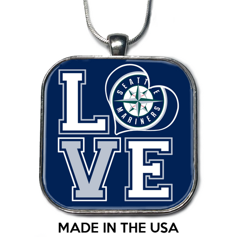 Love Seattle Mariners Necklace