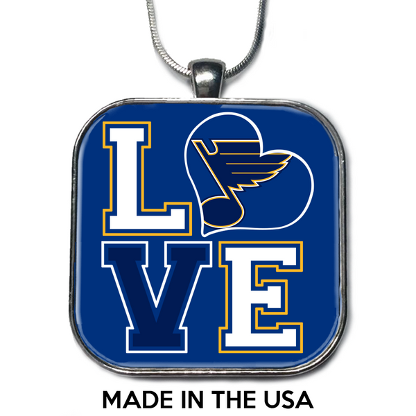 Love St. Louis Blues Necklace