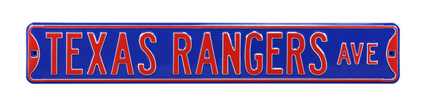 Texas Rangers Ave Sign