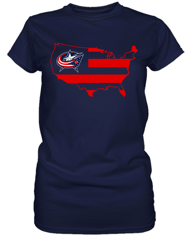 Columbus Blue Jackets - Broad Stripes