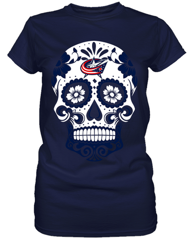 Columbus Blue Jackets - Skull
