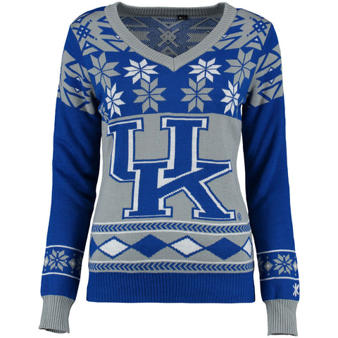 Kentucky Wildcats Women's V-Neck Ugly Sweater