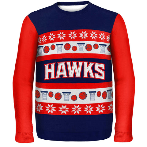 Atlanta Hawks Wordmark Ugly Sweater