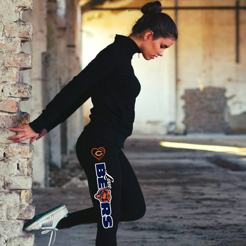 Love Chicago Bears Cotton Leggings