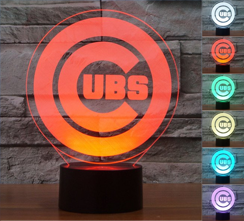 "Chicago Cubs ""Logo"" - 3D LED Lamp/Night Light"