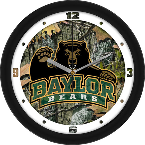 Baylor Bears Camo Wall Clock