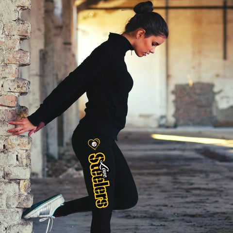 Love Pittsburgh Steelers Cotton Leggings