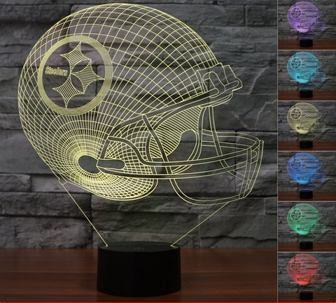 "Pittsburgh Steelers ""Helmet"" - 3D LED Lamp/Night Light"