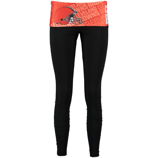 Cleveland Browns Vintage Cameo Knit Leggings