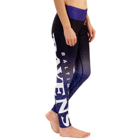 Baltimore Ravens Gradient Print Leggings