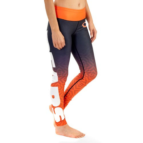 Chicago Bears Gradient Print Leggings