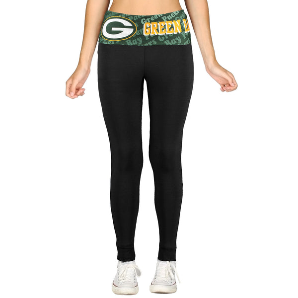 Green Bay Packers Cameo Knit Leggings