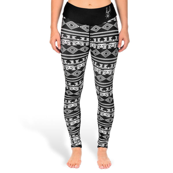 San Antonio Spurs Aztec Print Leggings