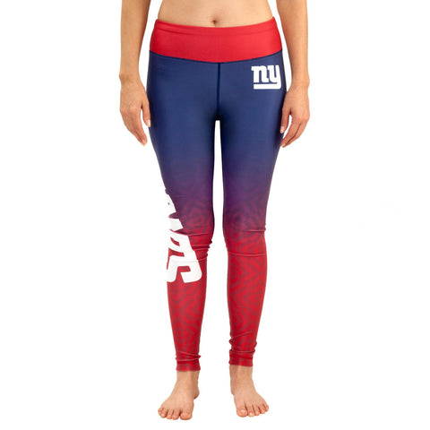 New York Giants Gradient Print Leggings