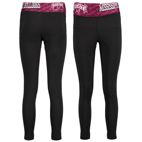 Mississippi State Bulldogs Cameo Knit Leggings