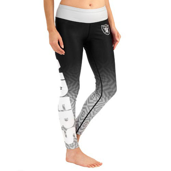 Oakland Raiders Gradient Print Leggings