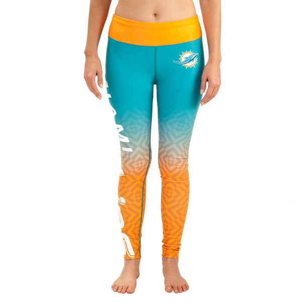 Miami Dolphins Gradient Print Leggings