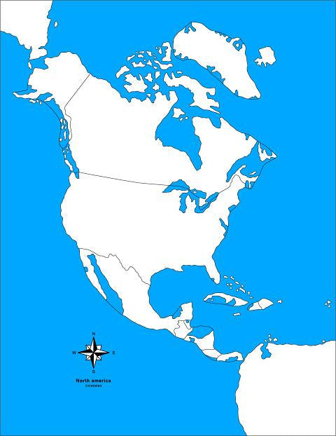 North America Control Map - Unlabeled