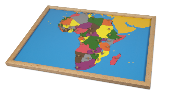 Puzzle Map of Africa - Beechwood Frame