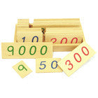 Small Wooden Number Cards (1-9000)