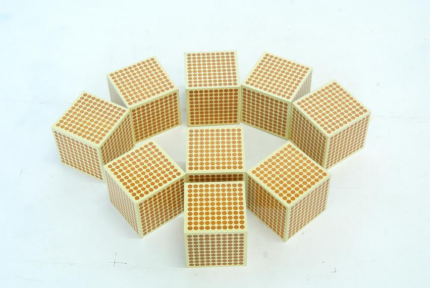 9 Wooden Thousand Cubes