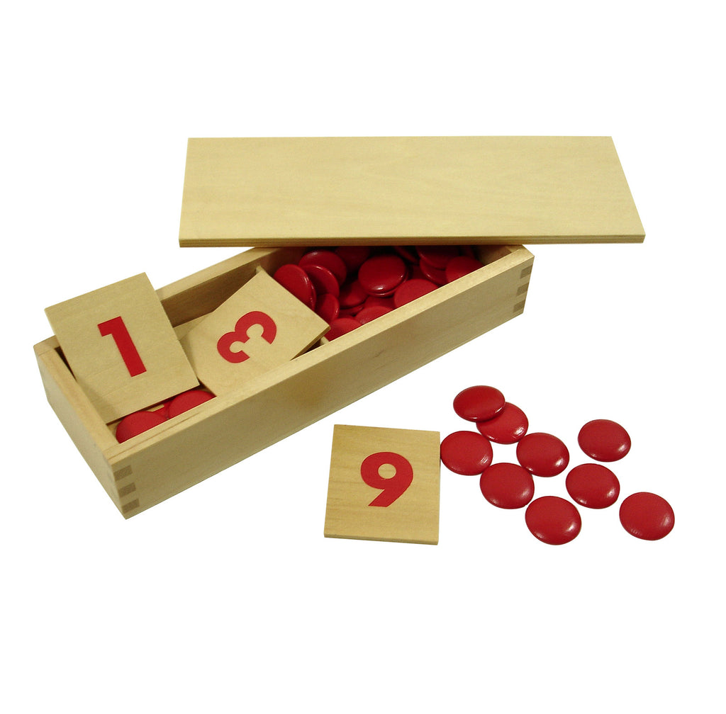 Number Cards 1-10 with Counters