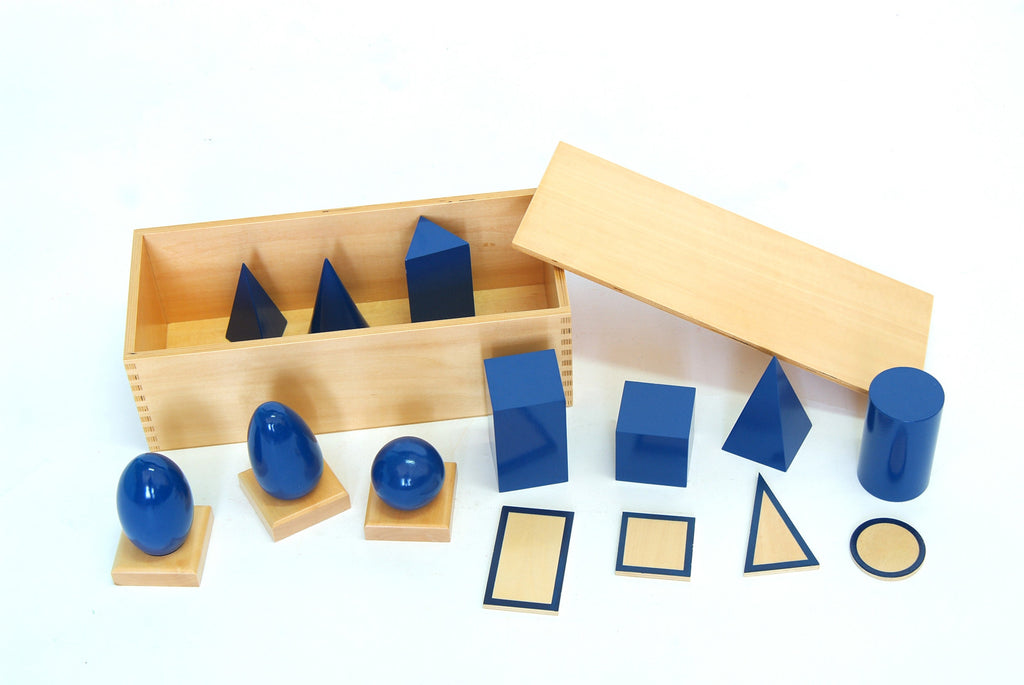 Blue Geometric Solids/Plane Figures