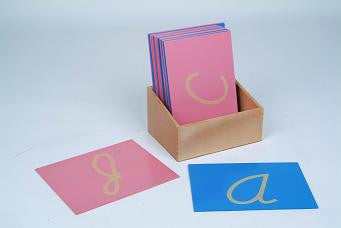 Sandpaper Letters, Capital, Cursive (Right Hand)