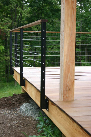 Cable railing project outdoor backyard deck