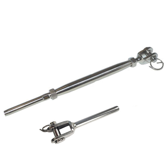 JAW & SWAGE STUD TURNBUCKLE COMBO SS 316 - SHEMONICO Cable Railing