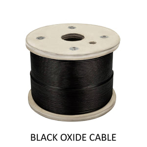 "Stainless Steel Black Oxide Cable 1/8"" 3/16"" 1/4"" Spool (C1046-B0) - SHEMONICO"