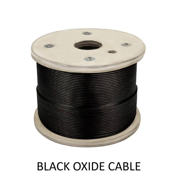 Stainless Steel Black Oxide Cable 1/8
