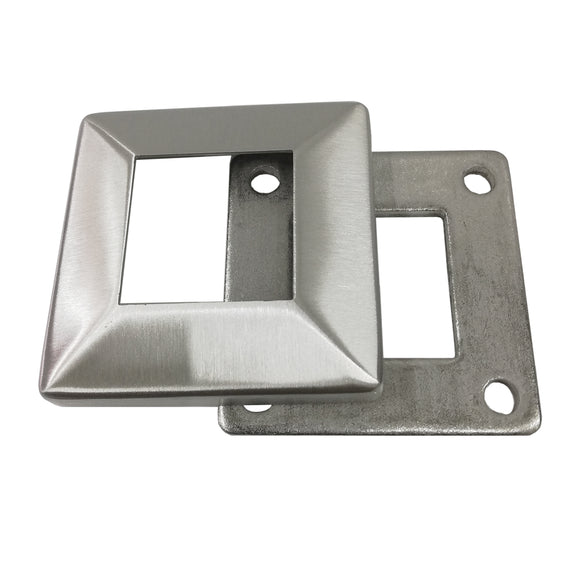Stainless Steel 316 Grade Square Base Cover and Plate for 1-1/2