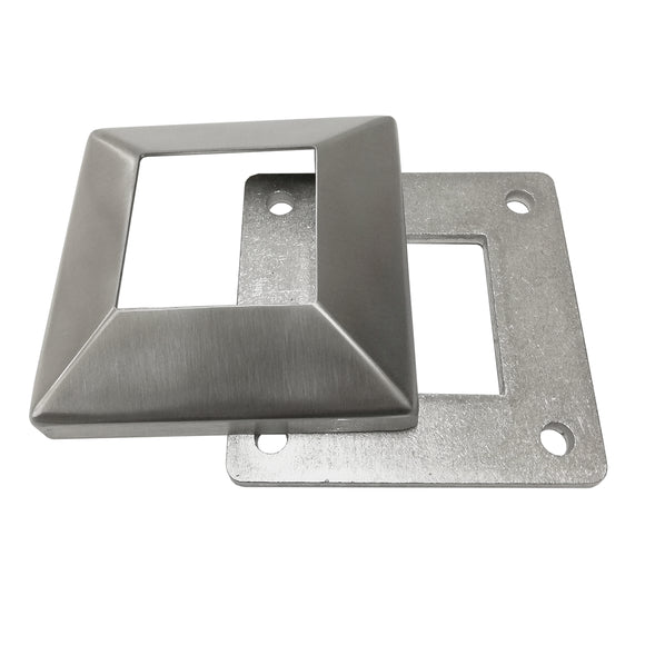 Stainless Steel 316 Grade Square Base Cover and Plate for 2