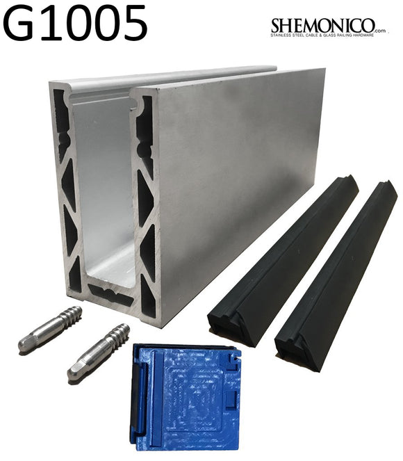 Anodized Aluminum Glass Channel 118
