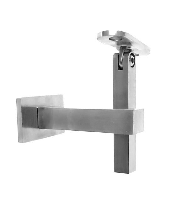 Square Adjustable Stainless Steel Handrail Wall Bracket or Flat/Curved Bottom Tube Mounting Brackets (G1020-SQR) - SHEMONICO