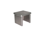 "Flat End Cap For Rectangular Square Tube 1-1/2"" x 1-1/2"" T316 Satin Finish (G1100-150-150) - SHEMONICO Cable Railing"