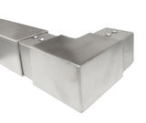 "90 Degree Horizontal Corner Elbow for 1-1/2"" Square Glass Cap Railing T316 (G1110-150-150) - SHEMONICO Cable Railing"