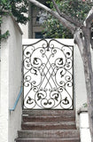 "Decorative Ornamental Panel Fence 56"" x 40"" Wrought Iron Metal Outdoor (70038) - SHEMONICO Cable Railing"
