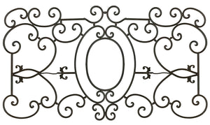 "Decorative Ornamental Panel Fence 60"" x 31"" Wrought Iron Metal Outdoor (70039) - SHEMONICO"