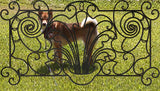 "Decorative Ornamental Panel Fence 59.5"" x 32"" Wrought Iron Metal Outdoor (70041) - SHEMONICO Cable Railing"