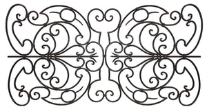 "Decorative Ornamental Panel Fence 60"" x 32"" Wrought Iron Metal Outdoor (70042) - SHEMONICO"