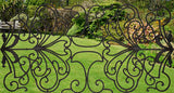 "Decorative Ornamental Panel Fence 61"" x 31.5"" Wrought Iron Metal Outdoor (70044) - SHEMONICO Cable Railing"