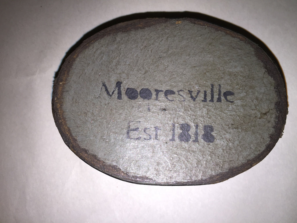 Historic Mooresville Paper Mache Boxes -Small Oval