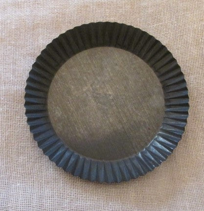 Crimped Candle Pan, Blackened Tin - BACK IN STOCK