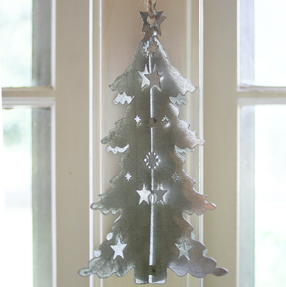 3D Metal Tree Ornament