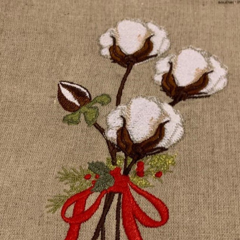 Christmas Cotton Embroidered Towel